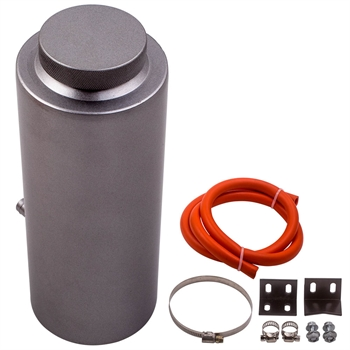 机油透气壶 800ml Aluminum Alloy Cylinder Radiator Coolant Catch Tank Overflow Reservoir