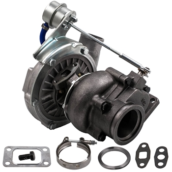 T3/T4 T04E V-BAND Turbocharger .63 A/R .5A/R Internal Wastegate