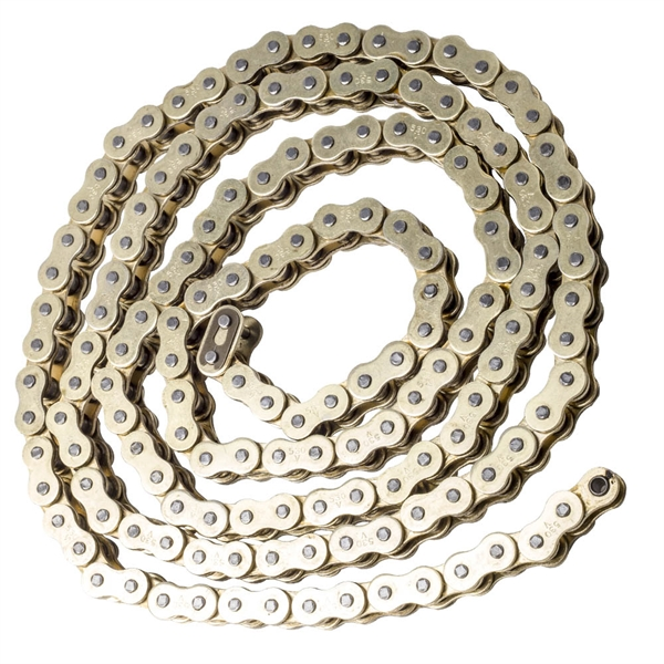 摩托车驱动器链条 530x150 O-Ring Drive Chain Gold Pitch Links Fit for Honda Kawasaki Suzuki