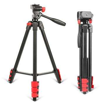 Zomei T90 Portable Tripod with Phone Clip and Bluetooth Remote Black & Red
