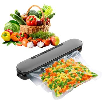 Zokop V69 Portable Food Vacuum Sealer Machine for Food Saver Storage with Magnets and 10 Bags Silver Gray