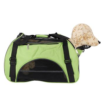 Hollow-out Portable Breathable Waterproof Pet Handbag Green L