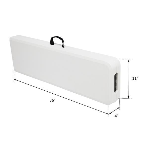 6FT Outdoor Courtyard Foldable Bench