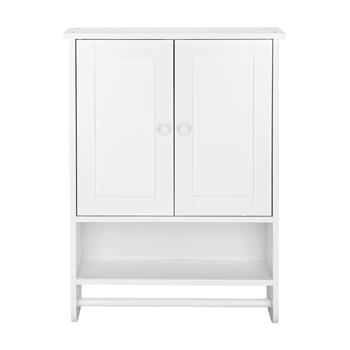 (65 x 48.7 x 14.6cm) Wall Hanging Cabinet with Two Doors Wall Washer Storage Cabinet