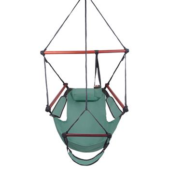 Well-equipped S-shaped Hook High Strength Assembled Hanging Seat Cacolet Green