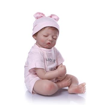 """20"""" Beautiful Simulation Baby Girl Reborn Baby Doll in Pink Dress"""