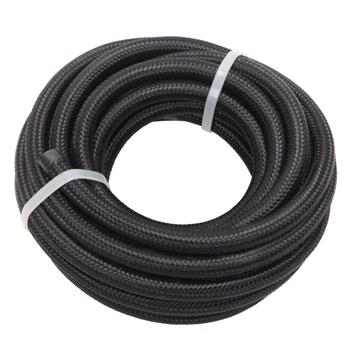 4AN 16-Foot Universal Stainless Steel Braided Fuel Hose Black