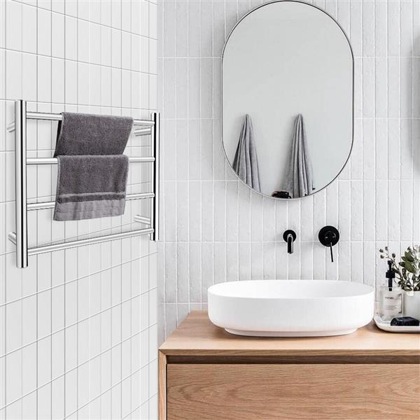 Towel Drying Rack Round Tube (Small Model) Power 80W 110V Constant Temperature 70°C Material 304 Stainless Steel (Button Switch In The Lower Right Corner)