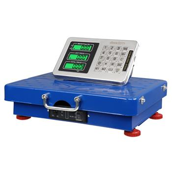 Leadzm 200KG/441lbs Wireless LCD Display Personal Floor Postal Platform Scale Blue