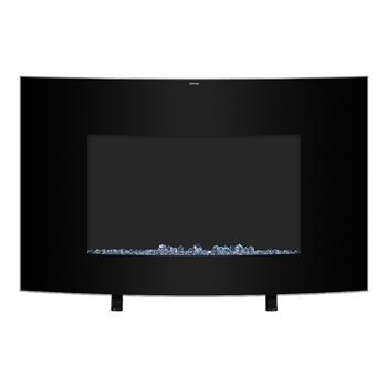 """ZOKOP SF301-35 35 """"1400W Cambrio Wall Hanging/Fireplace Single Color/Fake Wood/Heating Wire/Small Remote Control Black"""
