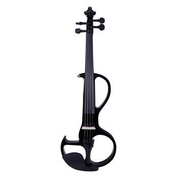 4/4 High-grade 8 Pattern Electroacoustic Violin Kit (Case   Bow   Rosin) Black
