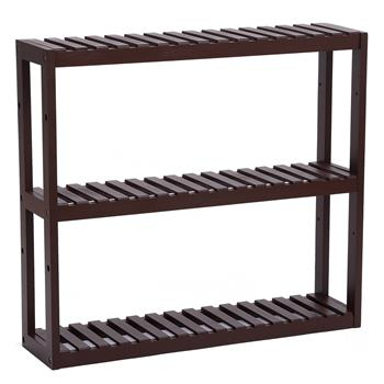 100% Bamboo Bathroom Rack 3 Layers Multifunctional Wall Storage Rack Adjustable Layer Can Be Used For Independent Toilet Utility Shelf Living Room Kitchen 60 * 15 * 54cm Dark Brown