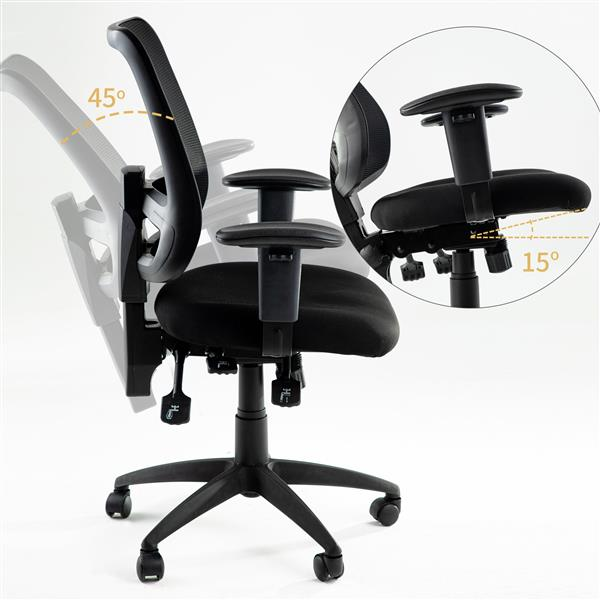 Office Chair with Multiple Adjustment Points Executive Swivel Ergonomic High-Back Task Computer Chair with Arms and Lumbar Mesh Support Desk Chair