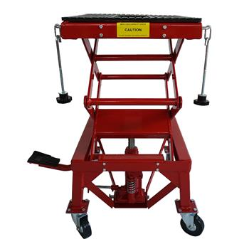 300lb Motorcycle Hydraulic Lifting Platform red