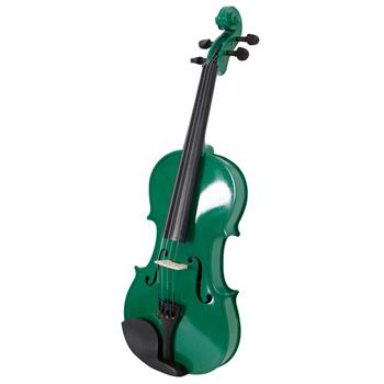 New 4/4 Acoustic Violin Case Bow Rosin Green