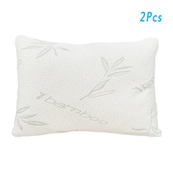 2pcs Gel Particle Crushed Cotton Pillows Queen