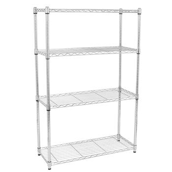 4-Layer Chrome Plated Iron Shelf 120*90*35 Silver