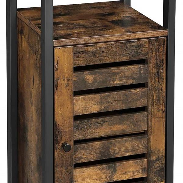 Storage Cabinet, Standing Cabinet, Industrial Floor Cabinet, Side Cabinet with Shelf, Multifunctional in Living Room, Bedroom, Hallway, Rustic Brown