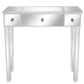 FCH Flip Glass Mirrored Makeup Table