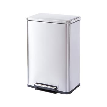 Rectangle, Stainless Steel, Soft-Close, Step Trash Can, 50L 13gal