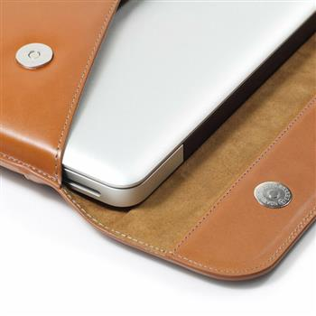 Ban on Amazon platform sales LENTION Split Leather Sleeve Magnetic Snaps Case Bag, Soft Touch, Compatible with 15-inch Slim Laptops (Brown & Gray)