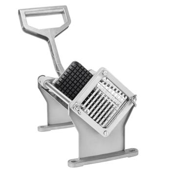 "ZOKOP FC-1 Vertical French Fries Machine with Single 3/8"" Blade Silver & Black"