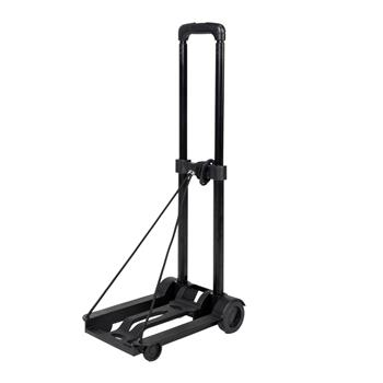Portable Mini Folding Luggage Cart Black