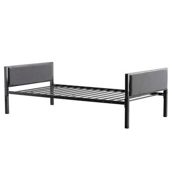 Simple Dark Gray Soft Cover Daybed Black Twin
