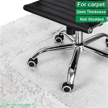PVC Rectangle Floor Protection Mat Chair Mat with Nail Transparent