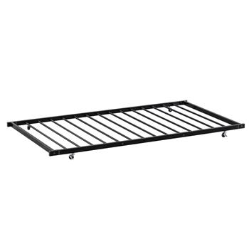 Square Tube Trundle and Bed  Black Twin