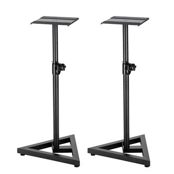 2pcs Heavy Duty Adjustable Height Pro Speaker/Monitor Stands Black
