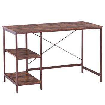 (120 x 60 x 75cm) Industrial Style Three Layers Table Black Walnut Color