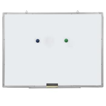 Single Sided Magnetic Dry-Erase Whiteboard with Marker & Eraser & 2pcs Magnets 90*60cm