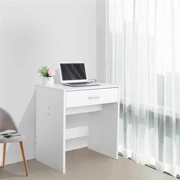 FCH With a Light Cannon Large Mirror Single Drawer Dressing Table White