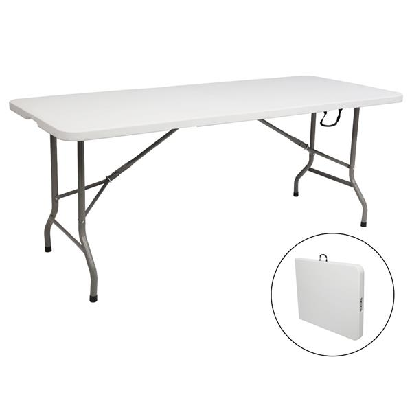 6FT Outdoor Courtyard Foldable Long Table