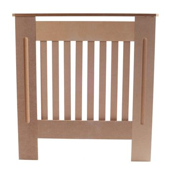 Simple Traditional Design Ventilated E1 MDF Board Vertical Stripe Pattern Radiator Cover Wood Color S