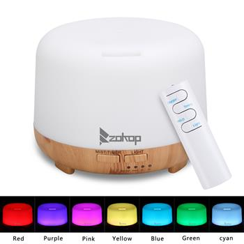 ZOKOP 220V 450ML 2249YK Colorful RGB Light With White Remote Control Aromatherapy Oil Diffuser / Portable Ultrasonic Diffuser / Cold Mist Humidifier