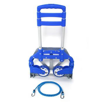 Portable Folding Collapsible Aluminum Cart Dolly Push Truck Trolley Blue