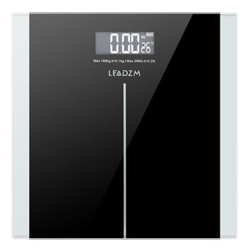 LEADZM 180Kg Slim Waist Pattern Personal Scale Black