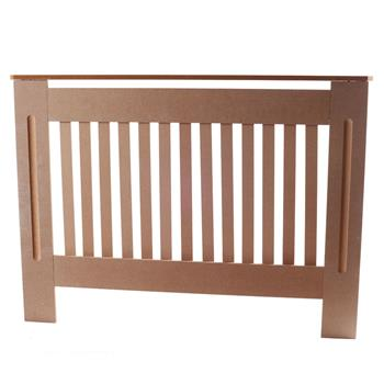 Simple Traditional Design Ventilated E1 MDF Board Vertical Stripe Pattern Radiator Cover Wood Color M
