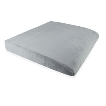 "Memory Cotton Square Cushion Grey 19""x 17.5"" x 3.5"""