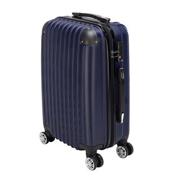 20 inch Waterproof Spinner Luggage Travel Business Large Capacity Suitcase Bag Rolling Wheels Navy Blue