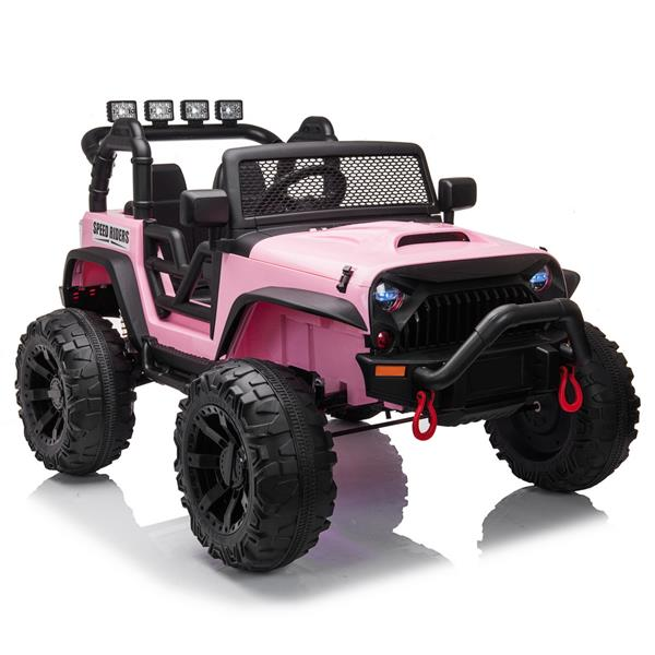 12V Ride On Car Truck with Remote Control, 3 Speeds, LED Light