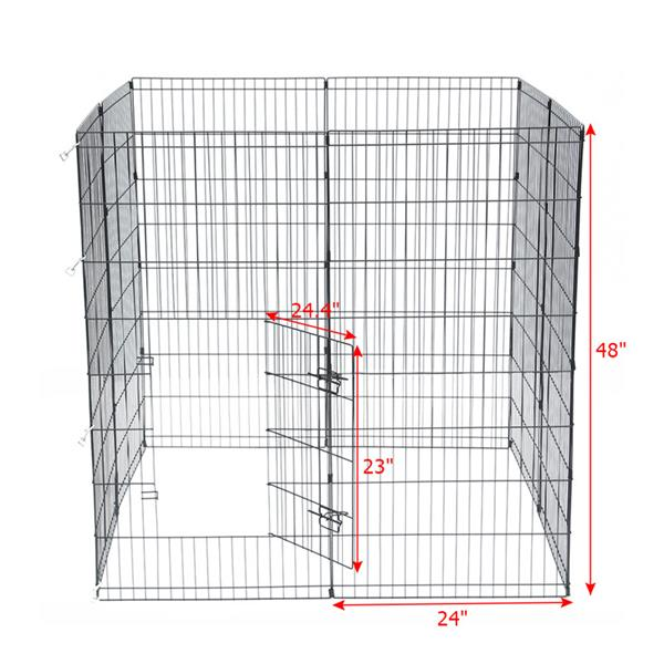 "Ktaxon 48"" Tall Wire Fence Dog Cat Folding Exercise Yard Playpen (Black)"