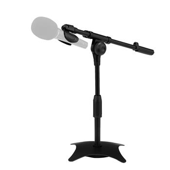 """Metal Adjustable Desktop Mic Stand With Weighted Base,  12.2"""" To 16.5"""" High, 3/8"""" Screw Converts To 5/8"""" Screw, Suit For Live Broadcast, Online Class, Face Time, Zoom Meeting, Video Calls, Video Recor"""