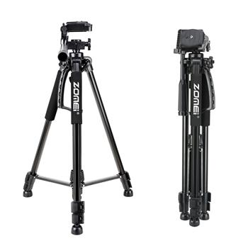 Zomei Z-1200 Portable Tripod with Phone Clip and Bluetooth Remote Black