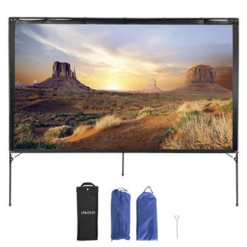 "LEADZM 80"" Outdoor Transportable Foldable Projector Screen with Bag"