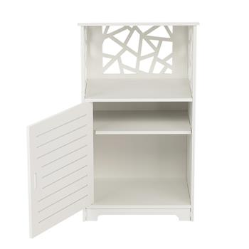 Single Door With Compartment 70cm high Bedside Table PVC (41 x 30 x 70)cm