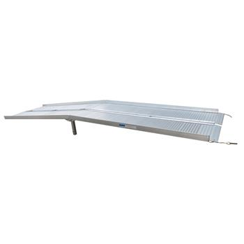10 Ft Home Corridor Aluminum Alloy Folding Ramp Silver