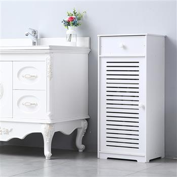 Single Door With Drawer Three Compartments 90 High Storage Cabinet (41x30x90)cm